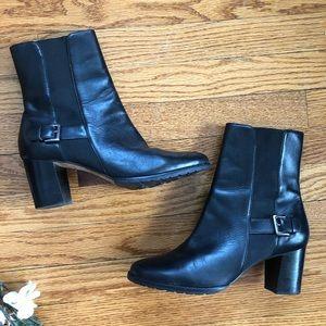 Cole Haan Black Leather Callan Short Boot